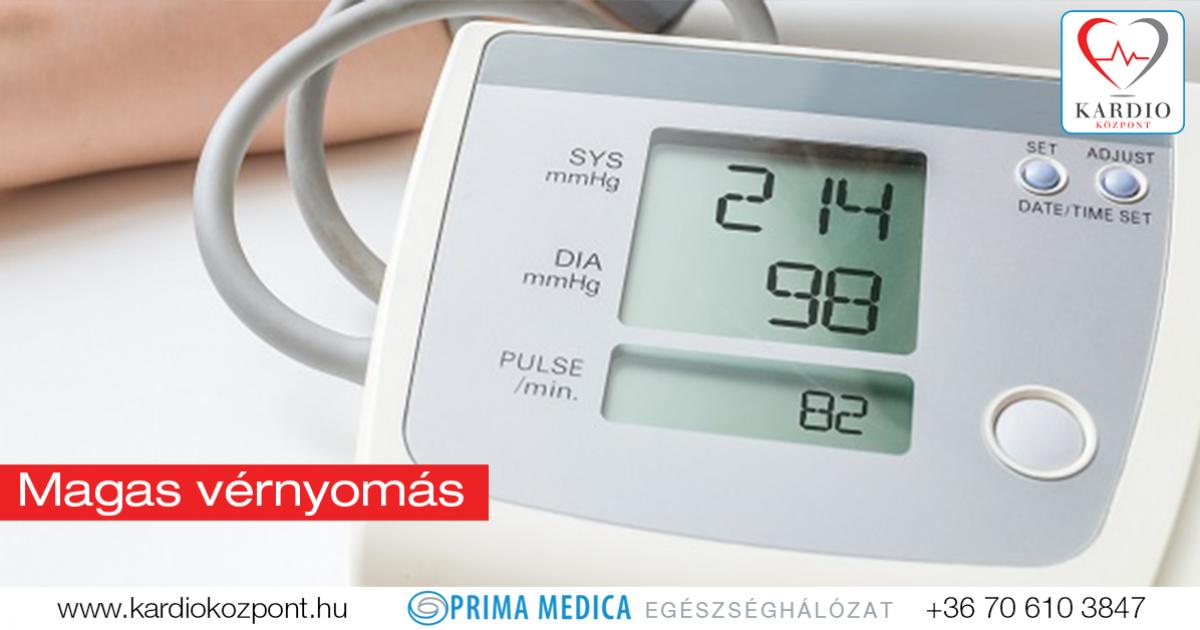 a vér vérnyomása magas vérnyomásban