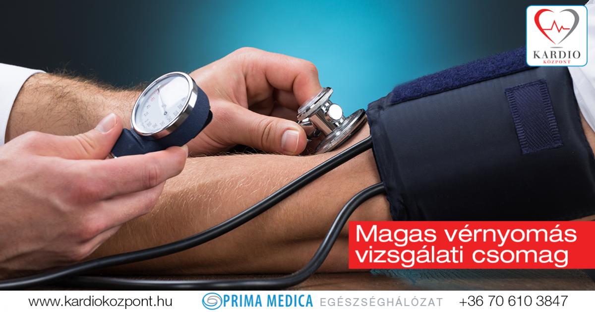 vérvizsgálat magas vérnyomás miatt